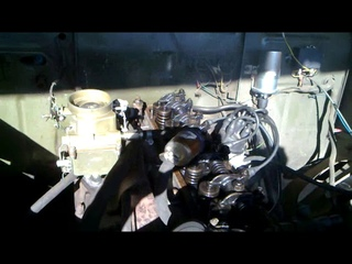 Двигатель Газ-21 без клапанной крышки