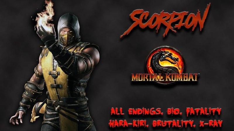 Mortal Kombat - All Fatality, Bio, Ending - Scorpion