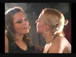 Lesbian Girlfriends smoking and Kissing