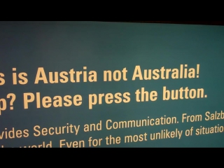 Welcome to Salzburg, Austria, NOT Australia