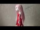 Как сделать парик для куклы из тресс 2 часть