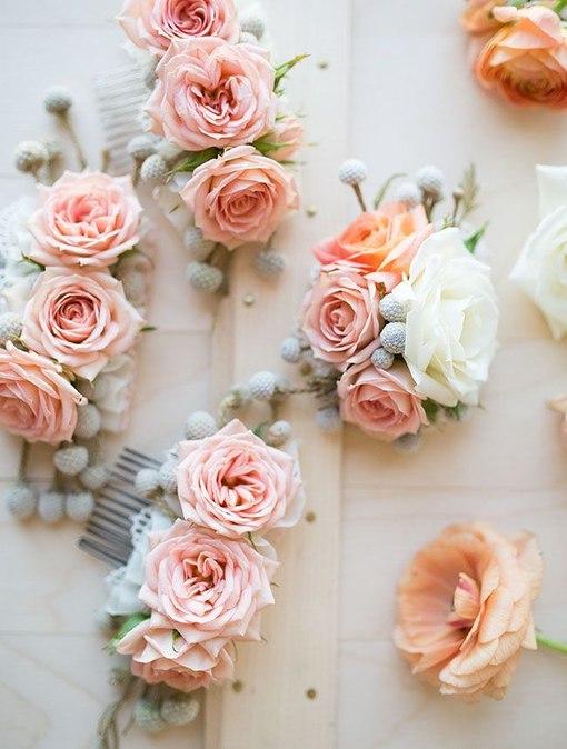 Цветы для заколок своими рук