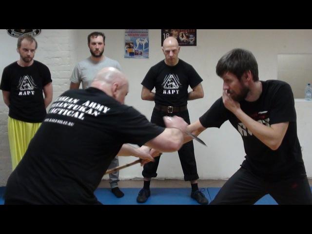 Гуро Александр Плаксин работа с боевым ножом и Panantukan RAPT
