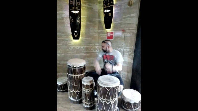 Drums solo в зоопарке