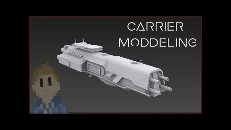 3DSmax || Spaceship Carrier || speed modeling