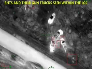 Nigerian air force - 1. naf helicopter gunship destroys terrorists' gun trucks in night raid near da
