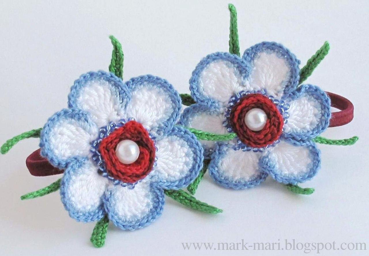 двухслойный цветок схема