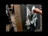 Instructional how to draw drapery demo from Tan's Fine Art Studio, by Zimou Tan