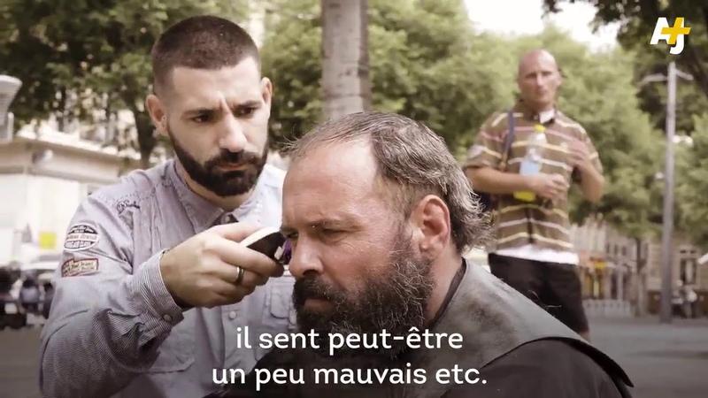 Marseille un coiffeur barbier pour les sans abris