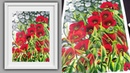 Easy Acrylic Painting Colorful Poppy Remembrance Day Satisfying Canvas Painting