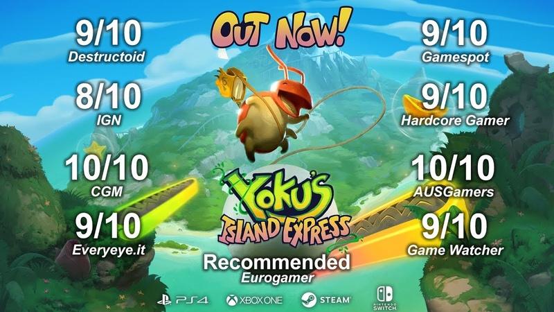 Yokus Island Express - Accolades Trailer (Steam, Nintendo Switch, PlayStation 4, Xbox One)