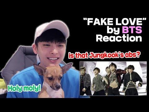 BTS (방탄소년단) FAKE LOVE Official MV reaction - Jungkooks abs