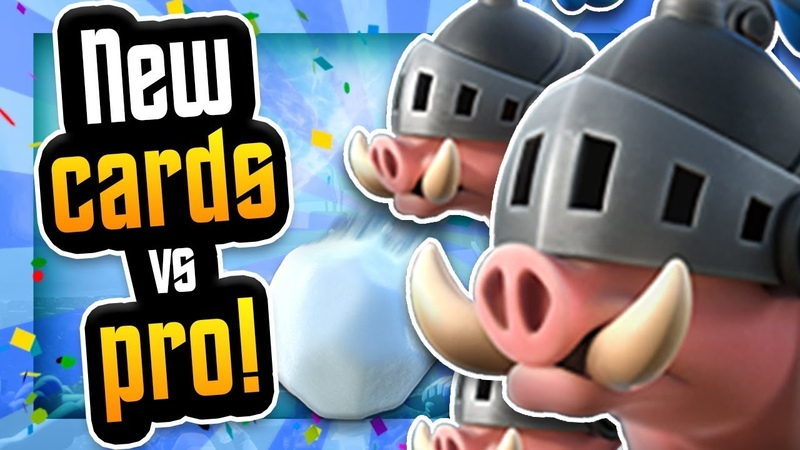 ROYAL HOGS GIANT SNOWBALL GAMEPLAY vs PRO! Clash Royale NEW CARDS!
