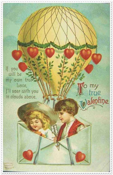 Ретро — открытки. День Святого Валентина…. (8 фото)