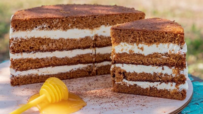 Торт Медовик бисквитный с заварным кремом. | Наша группа в ВК ТОРТЫ ВИДЕО РЕЦЕПТЫ