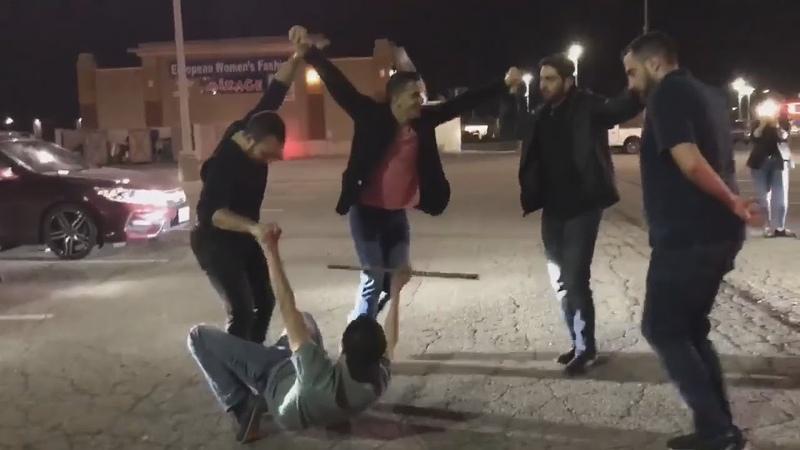 Lebanese Canadian Dabke Street Dance دبكة لبنانية على الشارع في كندا