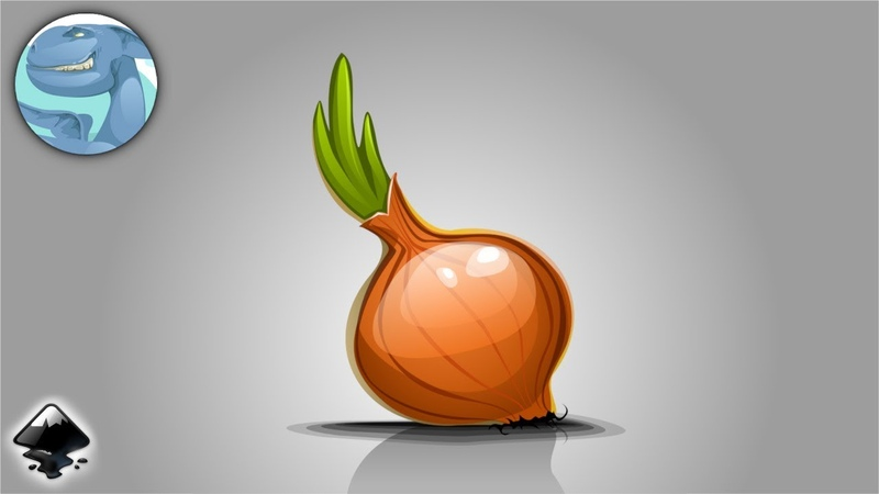 Simple onion. Speed vector art with Inkscape.