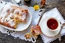 Творожный пирог с грушами и орехами