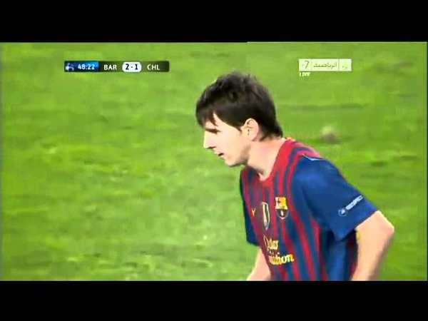 Messi penalty miss vs Chelsea - 24.04.2012