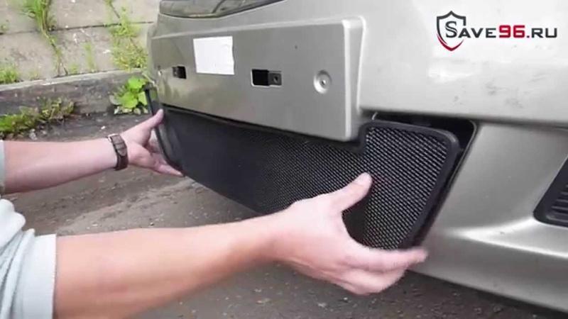 Сетка на решетку радиатора для Nissan Almera (Ниссан Альмера) 2013-2014 г.в.