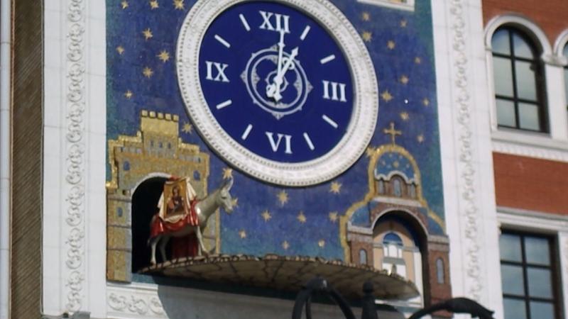 «Марийские куранты» — часы на здании художественной галереи