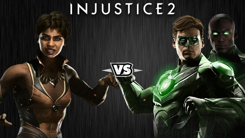 Injustice 2 - Виксен против Зелёных Фонарей - Intros Clashes (rus)