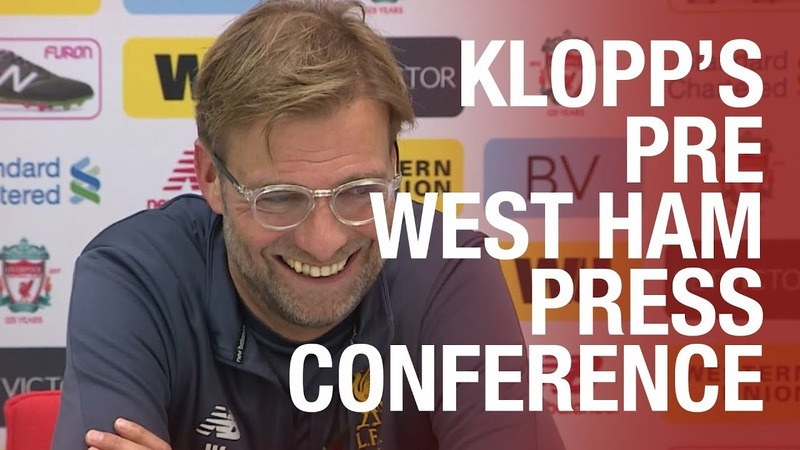 Jürgen Klopp's West Ham United press conference from Melwood | Mane update, Coutinho and Clyne