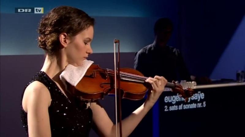 Hilary Hahn performs Ysaye Sonata No. 5 Danse Rustique (Better Quality)