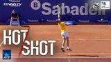 Nadal Hits Twirling Overhead Hot Shot In Barcelona Final 2018