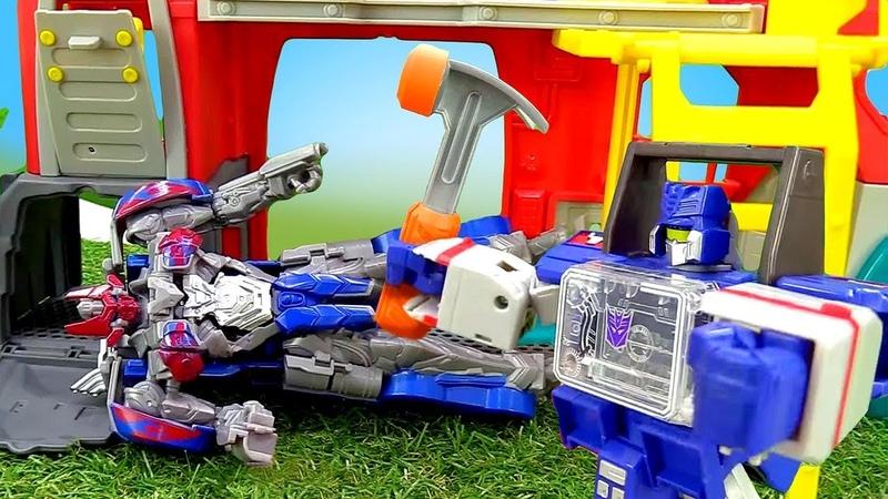 Роботы Трансформеры – Кто починит Оптимуса Прайма – Игры для мальчиков.