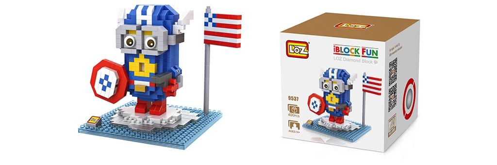 """Конструктор LOZ Diamond Block iBlock Fun """"Миньон Капитан Америка"""" 9537"""