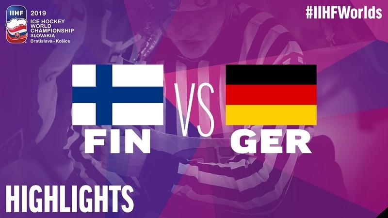 Finland vs Germany IIHFWorlds 2019