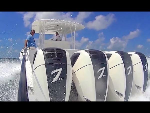 Cамый мощный лодочный мотор в мире Seven Marine 557 и 627 л.c. 6,2 V8