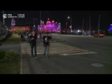 Прибытие фанатов на стадион Фишт в Сочи перед игрой России с Турцией