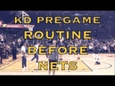 KD (Kevin Durant) pregame routine before Warriors (10-2) vs Brooklyn Nets at Oracle Arena