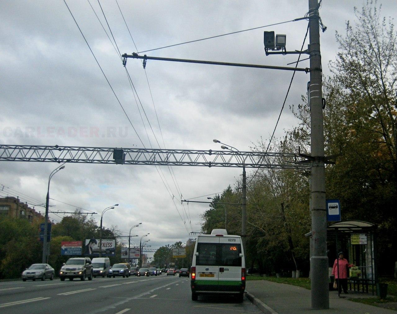 Две камеры ГИБДД: Рязанский проспект 91 к.1, остановка общественного транспорта