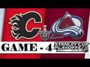 Calgary Flames vs Colorado Avalanche Apr.17, 2019 Game 4