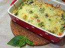 Овощная запеканка под сыром в пароварке
