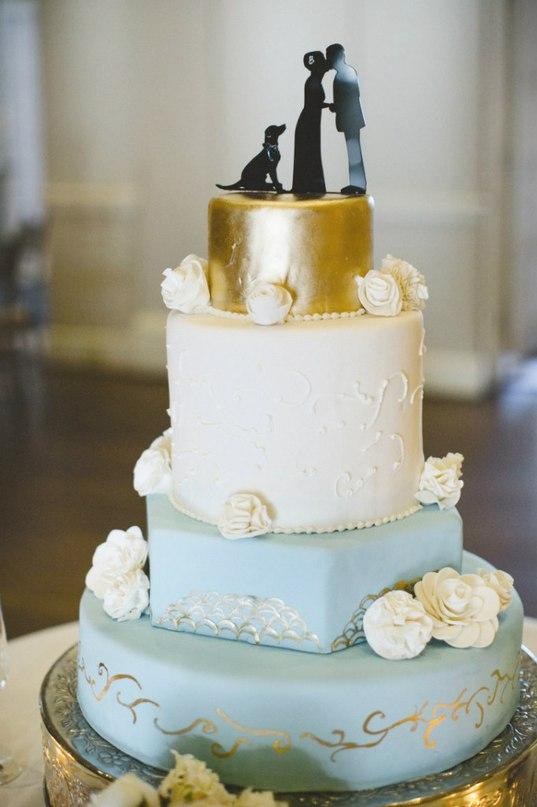 DqwvBxFvVWY - Золотые и серебряные свадебные торты 2016 (70 фото)