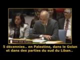 Le représentant permanent de la Syrie à l'ONU, le Dr. Bachar el-Jaafari dénonce l'occupation sioniste sur les terres palestinien