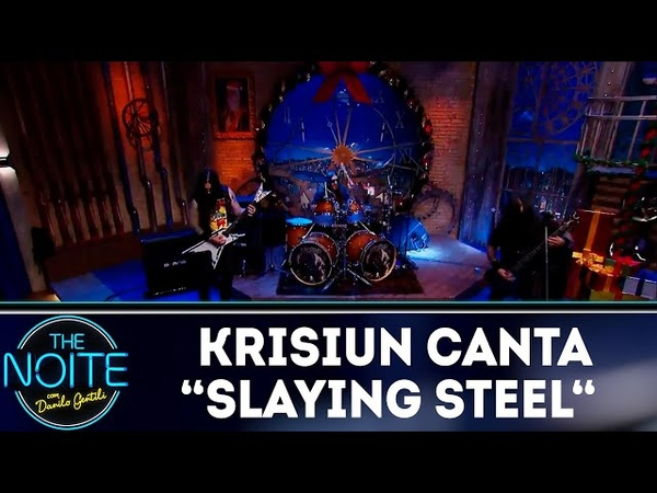 Krisiun canta Slaying Steel The Noite 21 12 18