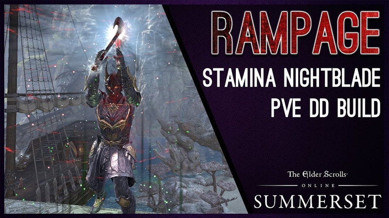 Stamina Nightblade Build PvE Rampage - Summerset Chapter ESO