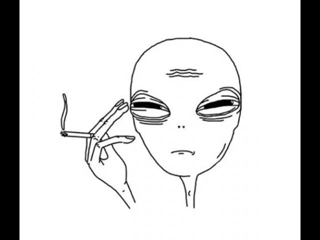 Tired alien