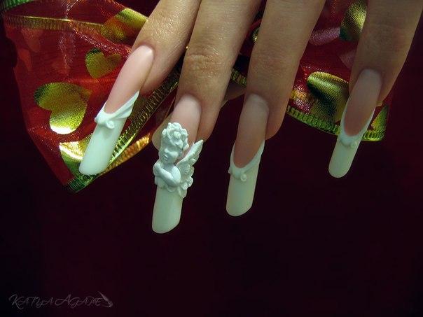 Акриловая лепка ногти дизайн 2017
