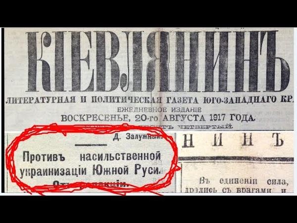 Акция протеста Против насильственной украинизации Южной Руси В 1917 году