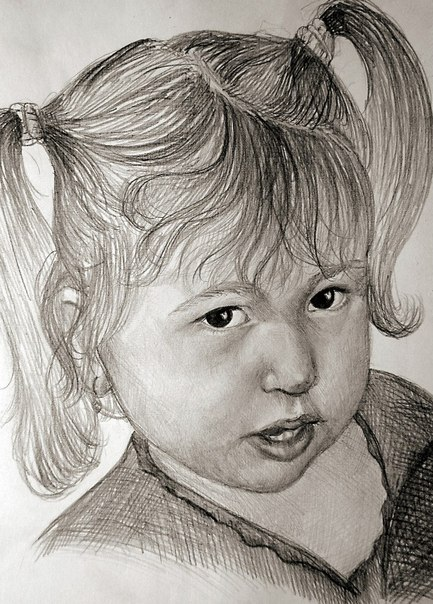 """Портрет карандашом с """"нуля"""" в"""