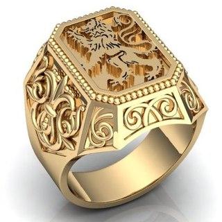 золотая цепочка с кулоном кольца