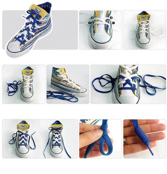 Оригинальные способы шнуровки!
