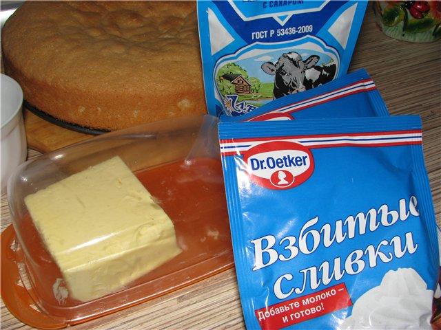 Крем для торта на сливках рецепт видео