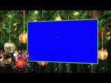 Веселый новогодний фон футаж 9 - Дед Мороз и Олени скачать бесплатно